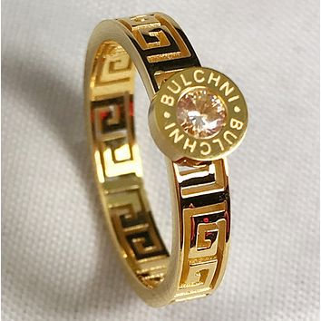 Givenchy Fashion new simple letter pattern diamond ring jewelry Gold