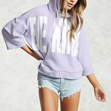 Boxy Be Kind Hooded Pullover