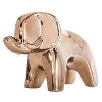 Shiny Copper Ceramic Elephant | Hobby Lobby | 1119163