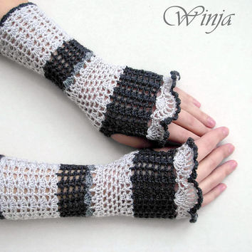 fingerless mittens, spring gloves, knitted gloves, crochet gloves, crochet fingerless gloves, mittens, boho, Lace Gloves, arm warmers