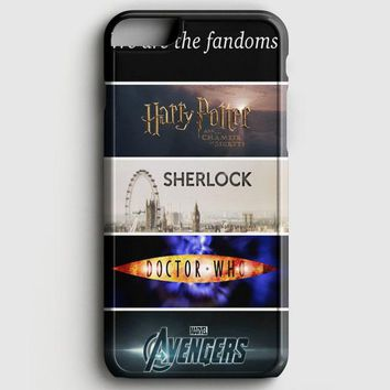 Fandoms Harry Potter Sherlock Doctor Who Avengers iPhone 8 Case