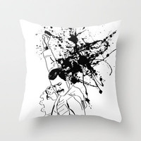 Freddie Mercury Throw Pillow by Aurelie Scour