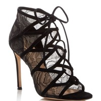 Pour La Victoire Elery Caged Lace Up Sandals | Bloomingdales's