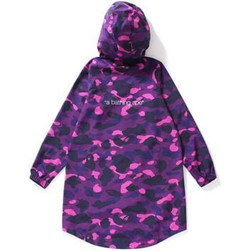 COLOR CAMO LONG HOODIE JACKET LADIES
