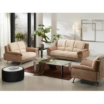 VIG Divani Casa 2823 Microfiber Sofa Set In Multi-Toned