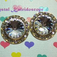 Clear Diamond ShowStoppers - Crystal Post Earrings handmade with Swarovski Elements, 20mm Studs
