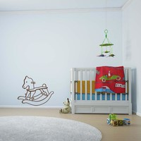 Rocking Wooden Horse Wall Decal
