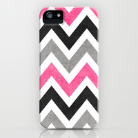 cosmopolitan chevron iPhone & iPod Case by Her Art
