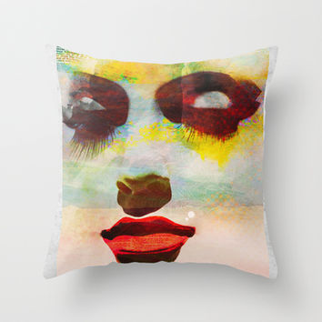 Open Your Eyes - Mixed Media Watercolor Throw Pillow by AvantPrint