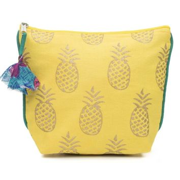 Pineapple Metallic Fair Trade Cosmetic Bag
