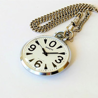 Vintage mechanical men's watch Pocket watch RAKETA BIG ZERO Classic men's watch Soviet Anniversary gift