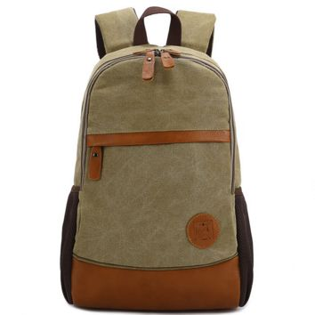 Vintage Large Canvas Backpack School Fashion Bag Travel Daypack