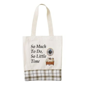 TEE Busy Time Zazzle HEART Tote Bag