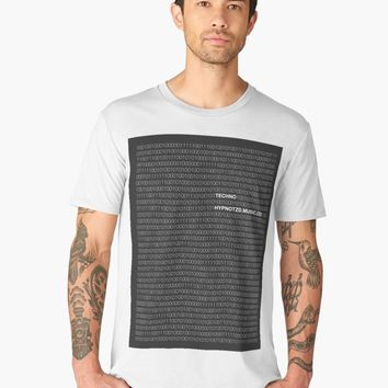 'Numbers | Techno' Men's Premium T-Shirt by hypnotzd