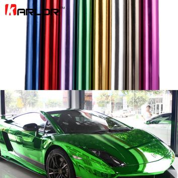 Chrome Mirror Vinyl Wrap Film Sticker Sheet Decal DIY Car-styling Automobiles Body Protect Auto Car Accessories Air Bubble Free