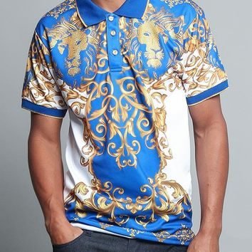 Royal Studded Lion Polo Shirt PQ7315 - C1E