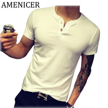 Mans T-Shirt Crossfit Button Style Men Short Sleeve Mma Tshirt Hip Hop Camouflage Bodybuilding Anime Funny T Shirts Brand Blouse