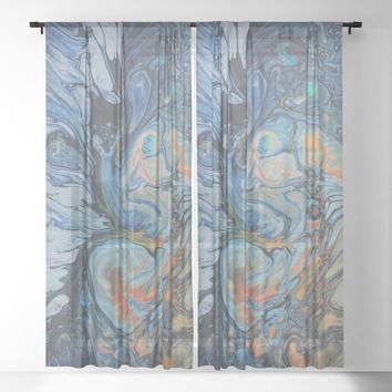 water life Sheer Curtain by duckyb