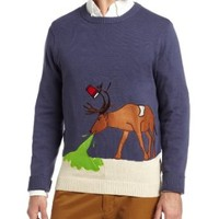 Alex Stevens Men's Reindeer Hangover Ugly Christmas Sweater