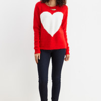LARA: Let Me Heart You Sweater in Red