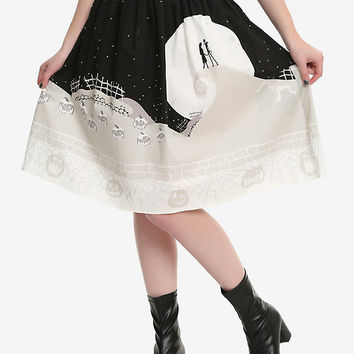 The Nightmare Before Christmas Moon Skirt
