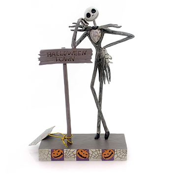 Jim Shore Welcome To Halloween Town Figurine