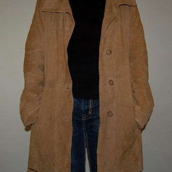 "Finest Softest Real Suede Leather German Designer ""Madeleine"" Blazer Jacket Coat High Quality Goat Suede Leather"