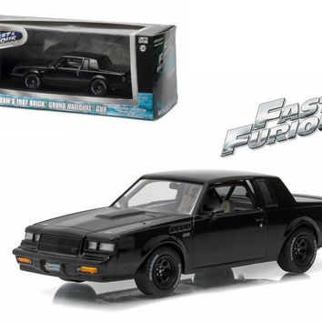 "Dom's 1987 Buick Grand National GNX ""The Fast and the Furious"" Movie (2009) 1-43 Diecast Model Car by Greenlight"