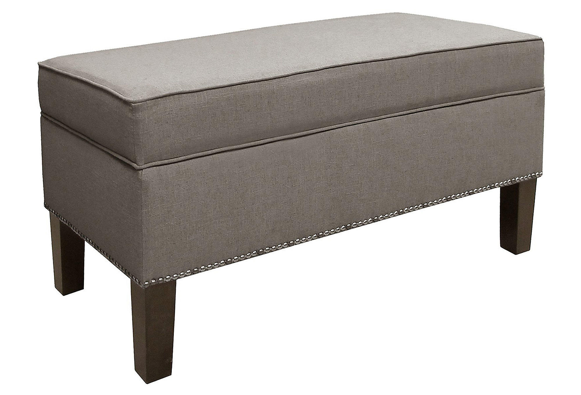 Dunne button storage bench gray bedroom from one kings lane Gray storage bench
