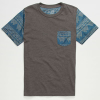 Blue Crown Ancient Forms Boys Pocket Tee Charcoal  In Sizes