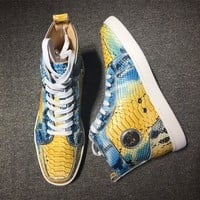 Cl Christian Louboutin Python Style #2253 Sneakers Fashion Shoes - Best Deal Online