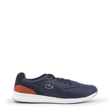 """Men's Casual Preppy Navy Blue, Red & White """"Lacoste LTR"""" Athletic Shoes"""