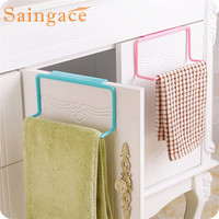 SAINGACE Storage Holders Towel Rack Hanging Holder Organizer Bathroom Kitchen Cabinet Cupboard Hanger u61018 DROP SHIP