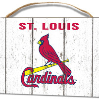 St. Louis Cardinals Small Plaque - Weathered Logo