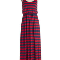 ModCloth Nautical Long Racerback Maxi Right On Maritime Dress