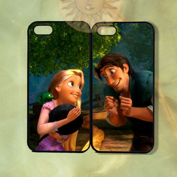 Custom Tangled Rapunzel &Flynn Couple Case-iPhone 5, iphone 4s, iphone 4, ipod touch Samsung GS3-Silicone Rubber or Hard Plastic Case, cover
