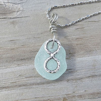 Infinity Sea Glass Necklace Revenge