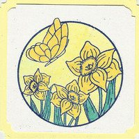 Endorsement Card-Circle of Daffodils-Set of 10