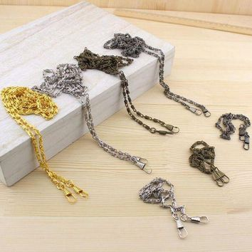 DKLW8 10pcs 120cm strong and durable Vintage Metal Shoulder Strap Chain purse DIY Sewing handmade Bag part Cords purse handle LW800