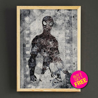 Spider-man Watercolor Art Print Marvel Avengers Superhero Poster House Wear Wall Decor Gift Linen Print - Buy 2 Get 1 FREE- 392s2g
