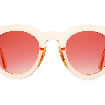 The T.V. Eye in Gloss Crystal Peach w/ Rose Gradient Lenses