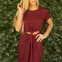 LETS TIE THE KNOT DRESS - WINE