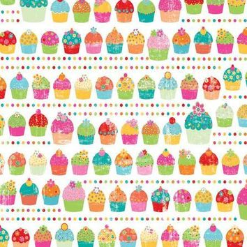 PRINTED FUN CUPCAKE BACKDROP - 8x10 - LCPC443 - LAST CALL