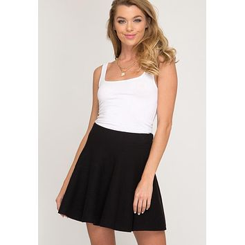 Kixters - Black Stretch Flare Sweater Skirt