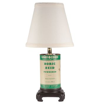 Vintage Boric Acid Container Up-cycled Lamp