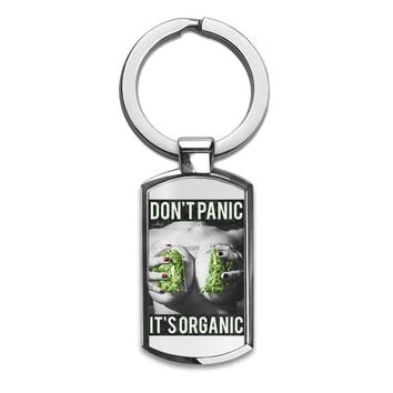Dont Panic Its Organic Stainless Steel Key Ring|