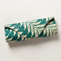 Island Leaf Clutch by Anthropologie Green One Size Clutches