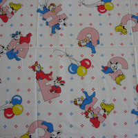 Alphabet Fabric in Primary Colors, Vintage - 5 YARDS, 30 INCHES