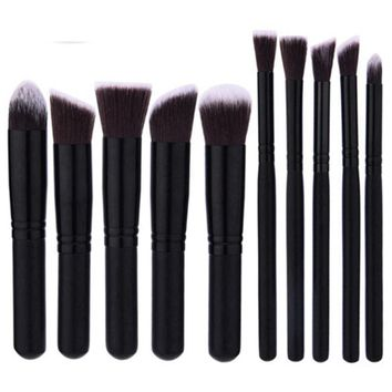 10 Pcs Makeup Brushes Superior Professional Soft Cosmetics Make Up Brush Set Kabuki Brush kit Makeup Brushes Full Function