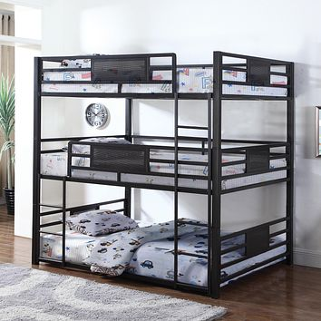 Gia Metal Twin or Full Triple Bunk Bed